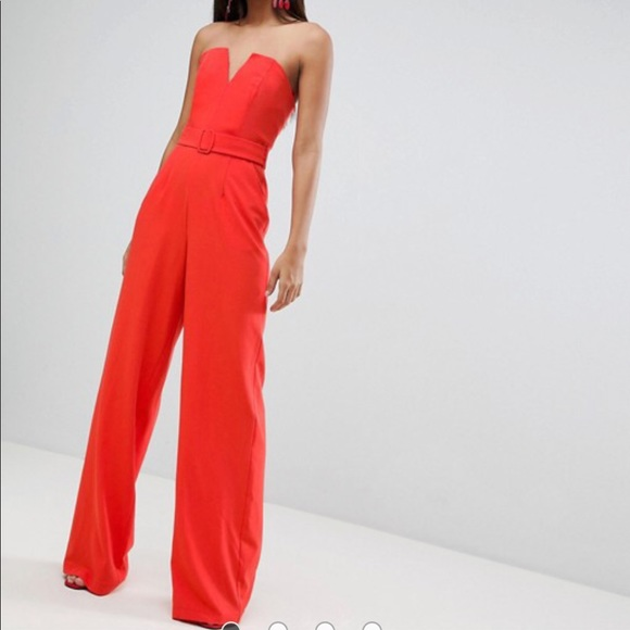 45b7456c2d Tall Jumpsuit With Structured Bodice And Wide Leg. NWT. ASOS